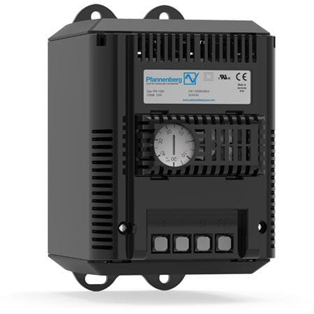 Compact fan heater with thermostat